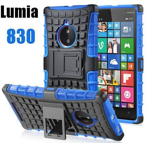 CZ Armor Heavy Duty Hard Cover Case For Nokia Lumia 830 Silicone Protective Skin Double Color(China (Mainland))