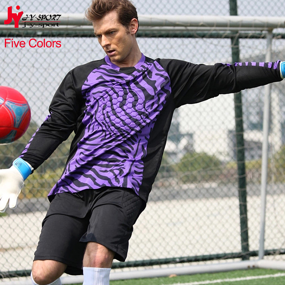 2016 Hot Sale Soccer Jersey Customize Goalkeper Sport uniform Long Sleeves Shirt And Short Man Team Football Training Tracksuit(China (Mainland))