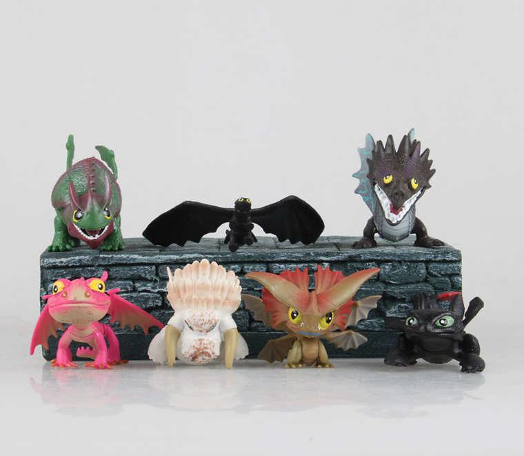 How To Train Your Dragon Action Figures 8cm 7Pcs Hot Toys Pvc Cartoon Figures Kid Gifts Movies Anime Figuire Collection Models