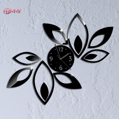 2015 Promotion Quartz Big Flower Wall Clock Design Luxury Mirror Clock,3d Crystal Clocks,best Gift! - YIWU MINO HOMEDCOR store