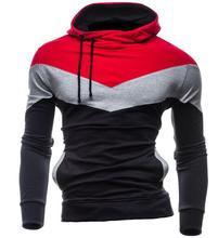 2016 Hoodies Men Sudaderas Hombre Hip Hop Mens Brand Tri-Color Stitching Hedging Hoodie Sweatshirt Sport Suit Slim Fit Men Hoody(China (Mainland))