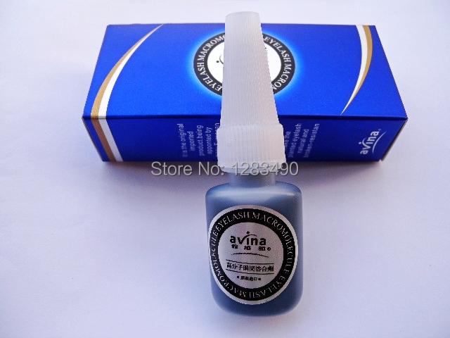 Freeshipping hight quality Navina Individual Eyelash Glue Eye lash Adhesive 10g Blue Box Liquid Wholesale(China (Mainland))