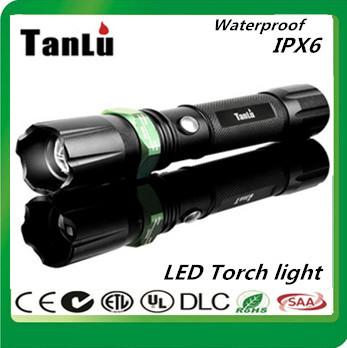 Здесь можно купить  2000 lumens zoom LED flashlight 200-500M/ +1*4000 mah 16850 rechargeable flashlight battery + charger + leather +car charger  Свет и освещение