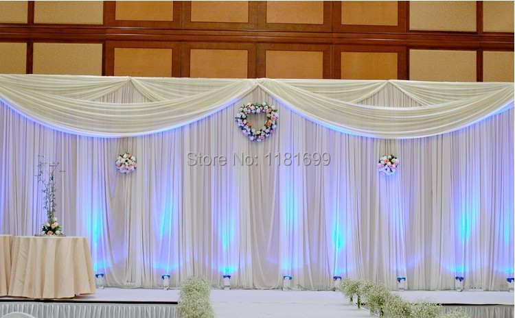 Wedding curtains backdrop decoration wedding drapes 3mx6m for Background curtain decoration