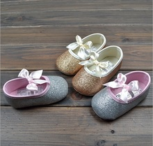 Wholesales 2014 spring summer new Baby, Kids shoes Children's girls princess shoes bow cotton baby walker shoes XZ-004