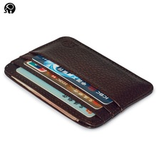 Buy Fashion Genuine Leather Bank Card Case Thin Mini Card Wallet Men Business ID Credit Cards Holder Cards Pack Cash Pocket 2016 NEW for $4.74 in AliExpress store