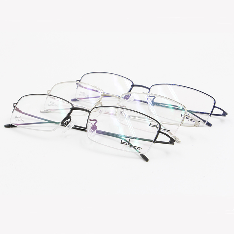 Popular Eyeglass Frame Styles : Metal half rim optical frame 2015 new style most popular ...