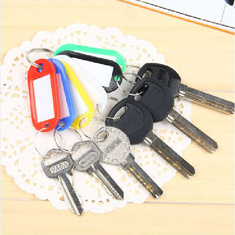 Candy Colors Plastic Keychains Hotel Number Plate Category Brand Tags Listing (mix order 10 usd)(China (Mainland))