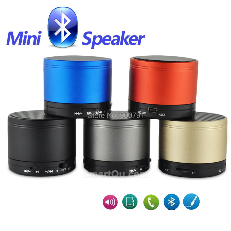 S10 Mini Wireless Stereo Bluetooth Speaker aluminium Compact Bluetooth V3.0 Mini Speakers Speakerphone for handset / PC no logo(China (Mainland))