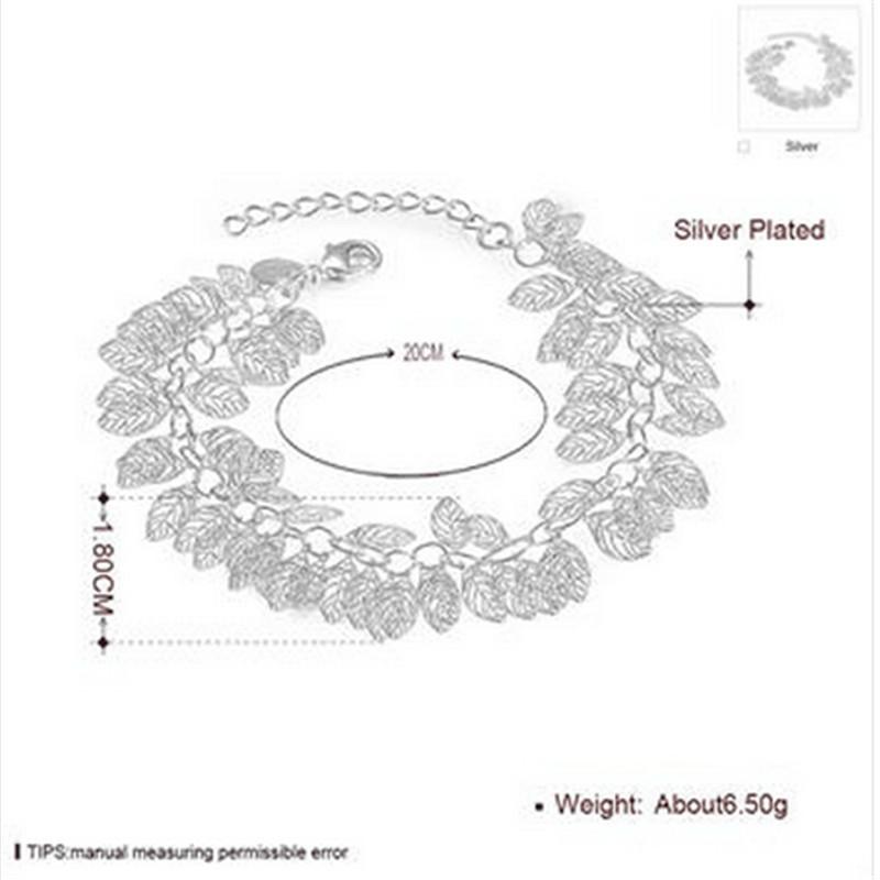 Brand Charm Bracelets & Bangles 925 sterling Silver Women Elegant Fashion Wedding Party Jewelry NEW Sl 221