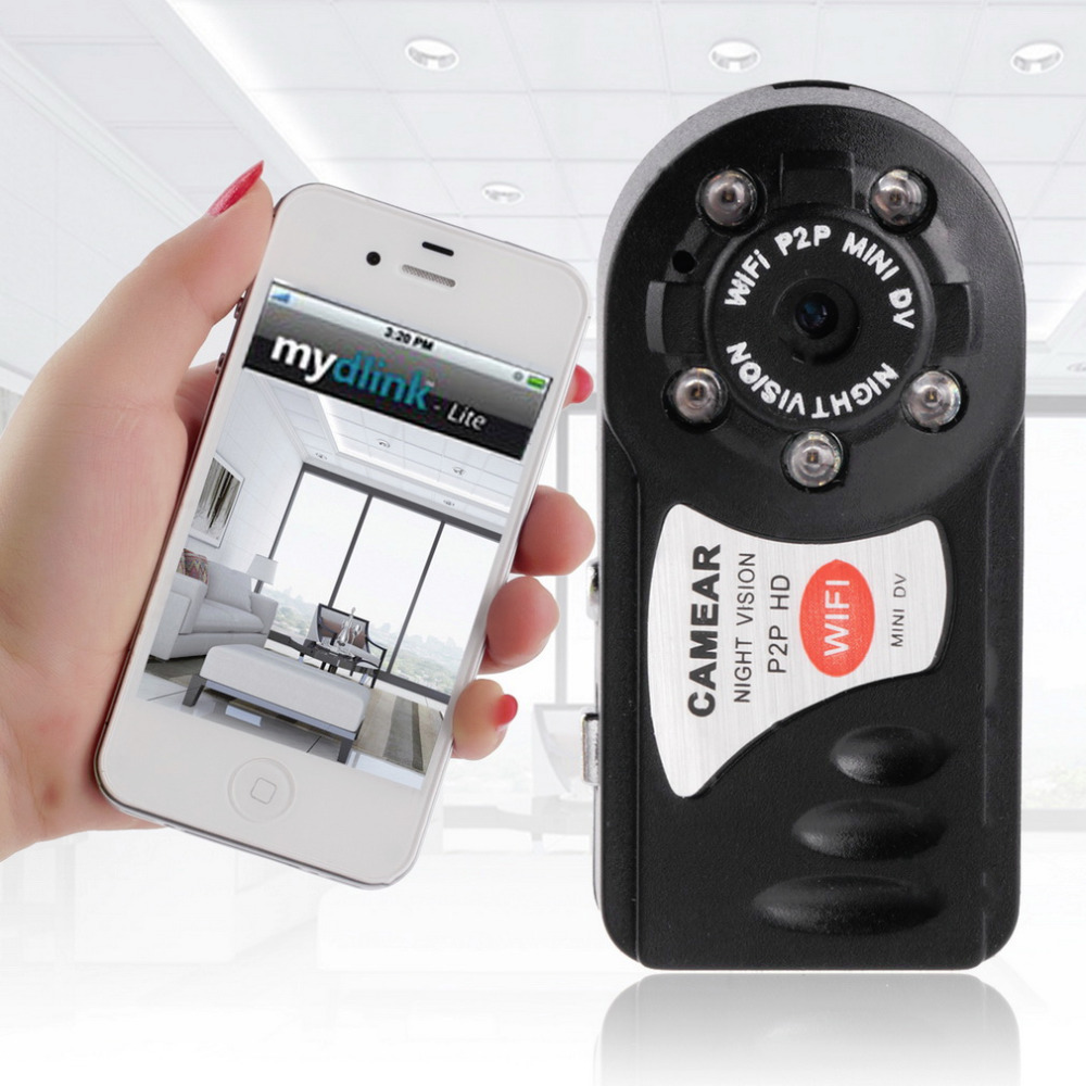 100%New WIFI IP Wireless Mini DV Hidden Remote Surveillance Camera Security For Android IOS PC(China (Mainland))