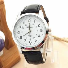 D6li 2016 Elegant Analog Luxury Sports Leather Strap Quartz Watches Men Gift Wrist Watches Bangle Bracelet