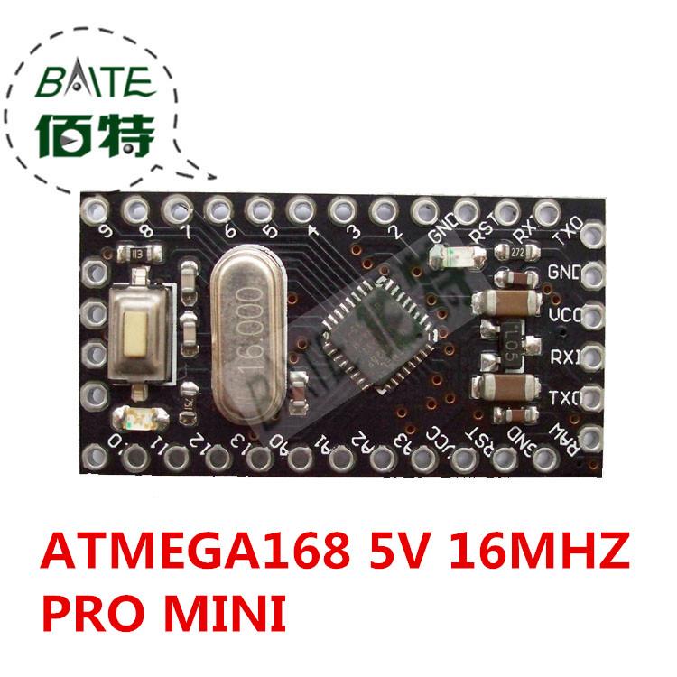 10pcs Pro Mini 168 Mini ATMEGA168 5V/16MHz For Arduino Compatible With Nano(China (Mainland))