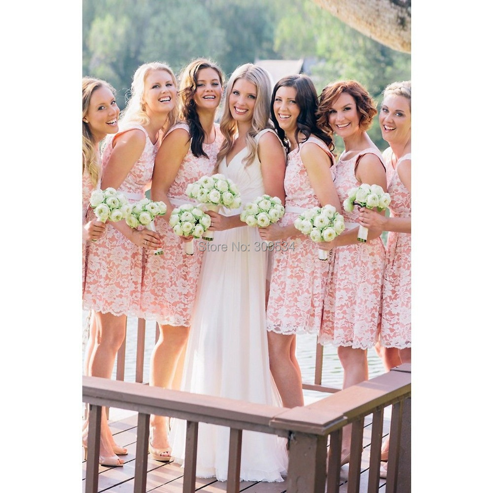 High Quality Pink White Bridesmaid Dresses-Buy Cheap Pink White ...