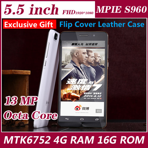 Original Smartphone MPIE S960 MTK6752 Octa Core 5.5 Inch 1080P 4GBRAM 16GB ROM Dual Sim 13.0MP Camera android 4G Mobile Phone(China (Mainland))