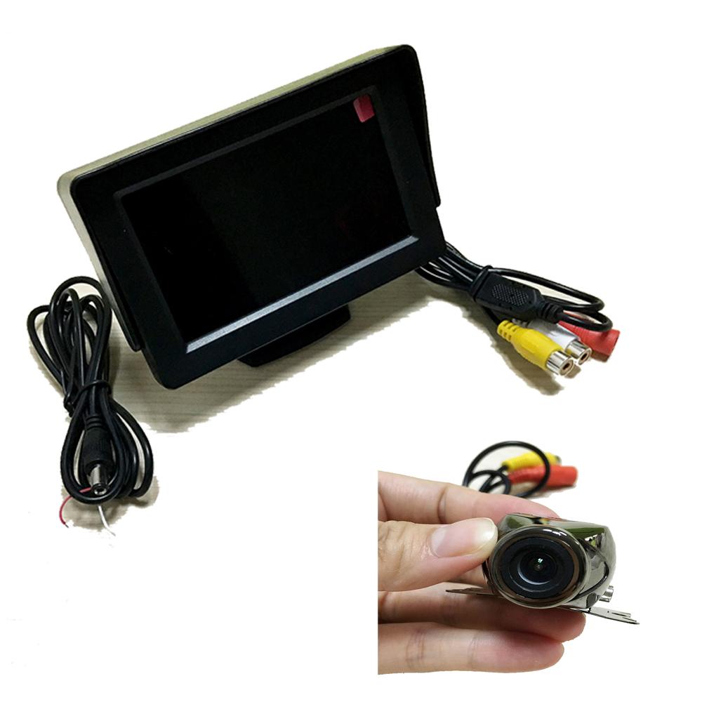 New 4.3 inch Digital TFT LCD Car Video Monitor Camera + Car Rear View Reverse Backing CMOS Camera free shipping(China (Mainland))
