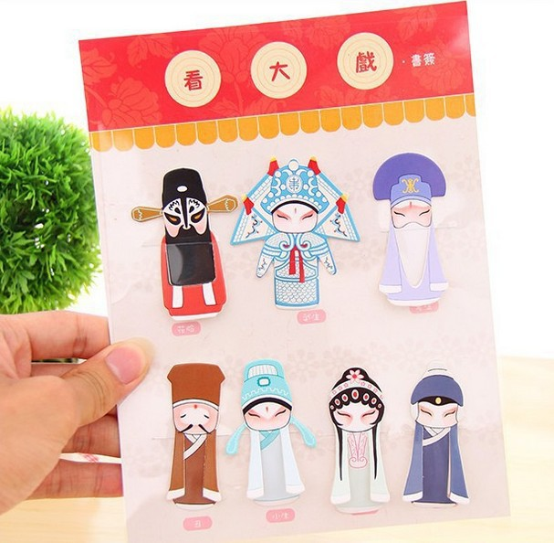 Cute Creative Vintage Chinese style classical elements of Peking opera drama mask bookmark/DIY Multifunction Bookmark/Wholesale<br><br>Aliexpress