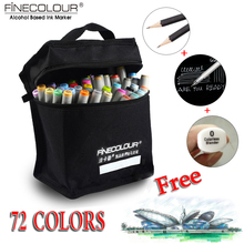 FINECOLOUR Artist Double Headed Sketch Copic Marker Set 36 48 60 72 Colors Alcohol Based Manga Art Markers for Design Supplies(China (Mainland))
