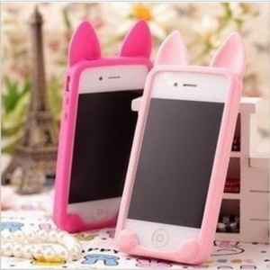 50pcs Korea Style KOKO Cat Silicon Cover Case for iphone 5, 10Colors, DHL Free Shipping (PG0514)(China (Mainland))