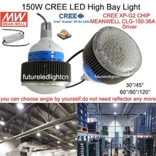 Hot sale! 150W CREE LED High bay light, led industrial factory light, cree chip, MeanWell driver, 120lm/W, CE ROHS PSE FCC UL GS(China (Mainland))