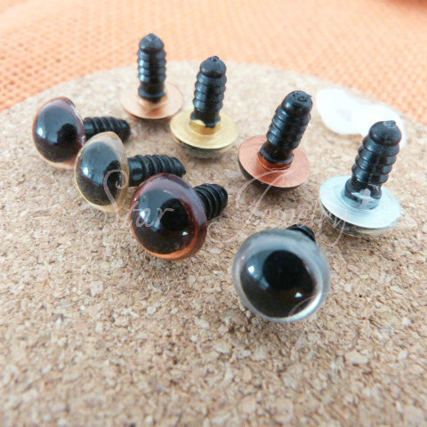 4 color 9mm toy eyes for animal accessories +washers/100pcs<br><br>Aliexpress