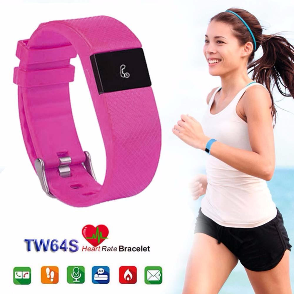 TW64s Heart Rate Monitor Smart Band Pulse Fitness Bracelet Activity Tracker Wristband for IOS Android Mobile Phone pk Fit bit(China (Mainland))