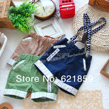 baby boy's summer shorts Leisure suspenders boys Tooling shorts(China (Mainland))