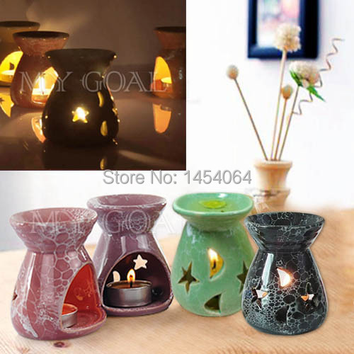 Ceramic Fragrance Oil Burners Lavender Aromatherapy Scent Candle Melt Essential Free Shipping 250336(China (Mainland))