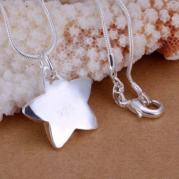 ZHJP032 lowest price wholesale fashion jewelry chain necklace 925 sterling silver Pendant Star in Star fall(China (Mainland))