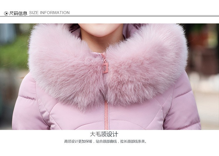 Women Jacket Coat 2016 New Winter Thicken Fur Collar Cotton Jacket Big Yards Hodded Padded Jacket Slim Outwear Parka M-4XL A2033