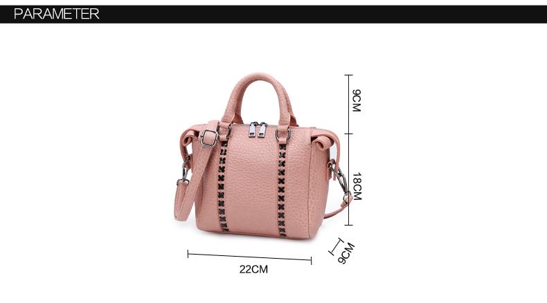 Retro Pillow-shaped Handbag Famous Brand Designer Boston Bag Chic Cross Pattern Women Embossed Bag Ladies Pink Shoulder Bag