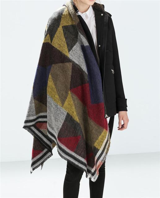 Za зима 2016 шарф плед новый дизайнер мужской акриловые основная шали обруча женщин попадают кашемир рождественский подарок низкая цена