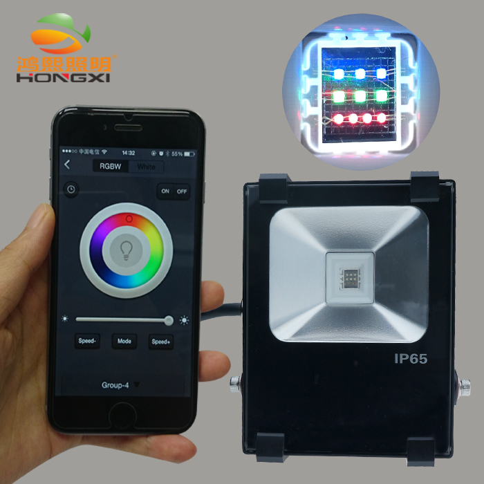 10W RGB led floodlight outdoor lighting for landscape in
