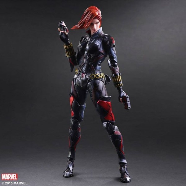 Sq. Enix Play Arts Kai Black Widow 25.5cm PVC Motion Determine Mannequin Toys