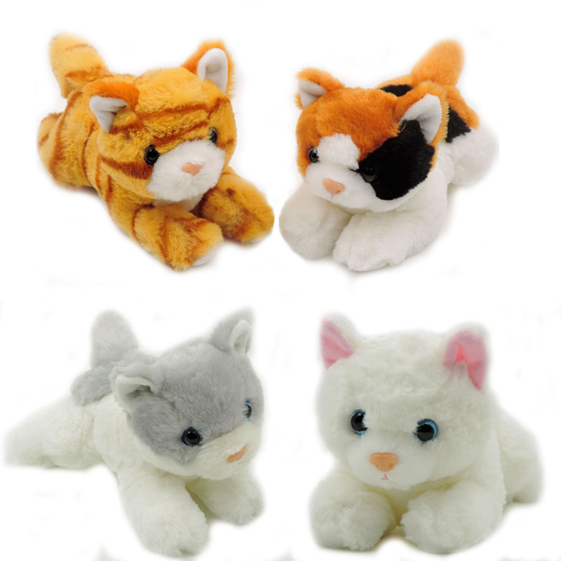 (4pcs/lot) 20CM Small Cute Plush Kittens Kids Toys Stuffed Animals Cats Soft Fluffy Dolls Children Birthday New Year Gifts(China (Mainland))