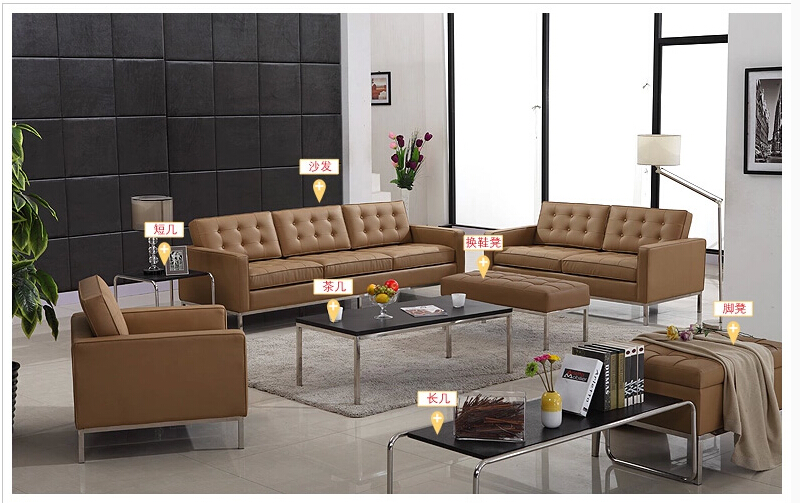 U-BEST black top grain real leather sectional sofa leather couch Modern Living room set, 1,2 & 3 seat Sofas set(China (Mainland))