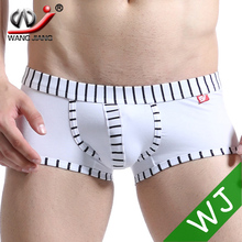 New Arrival WJ mens bermudas masculina de marca mens underwear boxers shorts men boxers for men Viscose Cotton white 5003-PJ(China (Mainland))