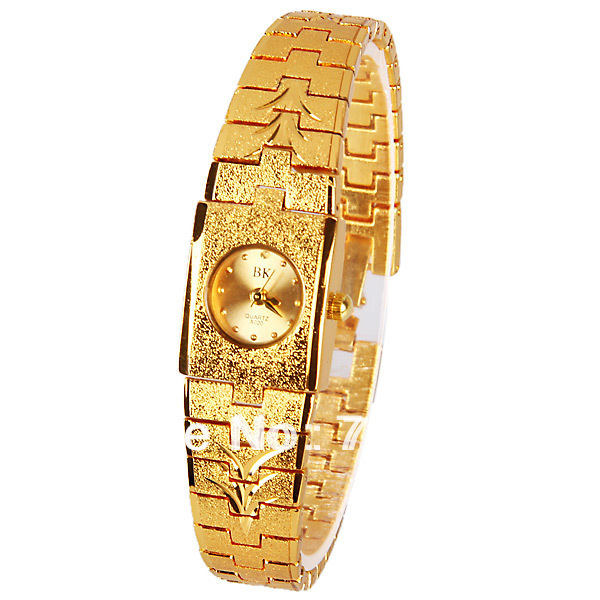 Original PictureBK Quartz Watch with Dots Indicate Steel Watchband for Women - Gold