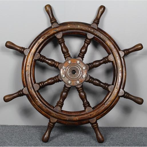 Old wooden boat wood walls Feng Shui rudder steering wheel skipper Mediterranean talisman pendant ornament transporter<br><br>Aliexpress