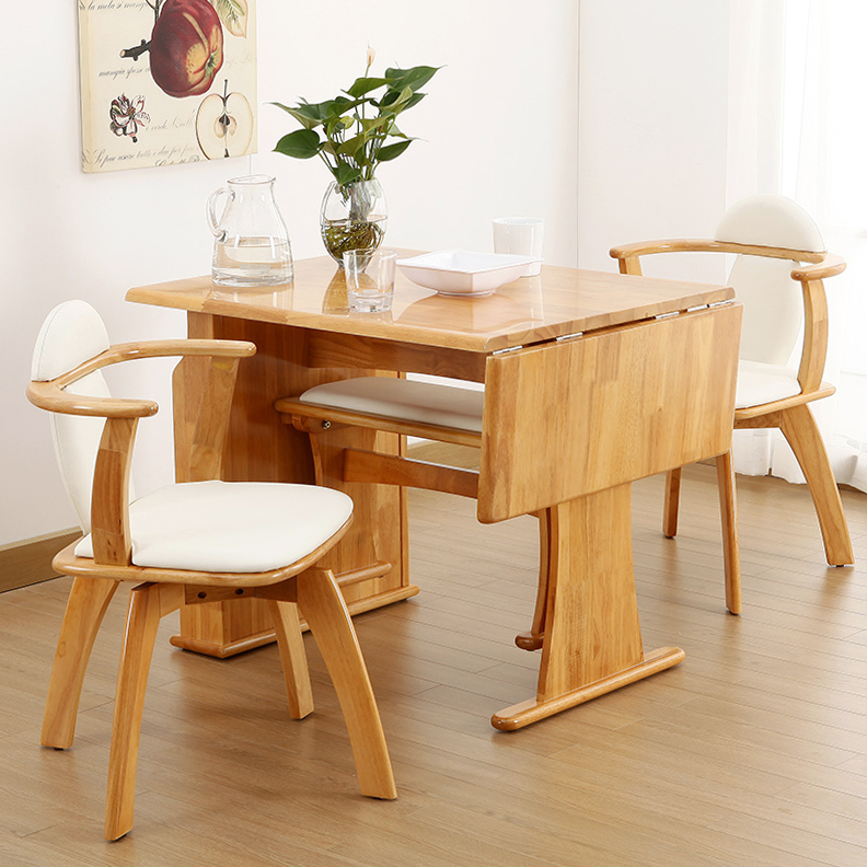 Dt816 rubber wood tables and chairs meal eat desk and for Small eating table