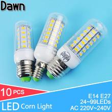 Buy 10Pcs/lot Lampada E27 220V 110V E14 E27 LED Corn Bulb LED Lamp E27 LED light bulb 7W 12W 15W 18W Spot bombillas Lampara Lampada for $9.25 in AliExpress store
