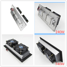 12V 240W Semiconductor electronic Parr Peltier refrigeration film air conditioning water cooling cold Aluminum radiator fan