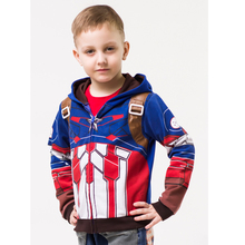 2016 The Avengers, Iron Man Children Hoodies Jacket Boys Spring Autumn Coat Kids Long Sleeve Casual Outwear ,Cartoon Jacket