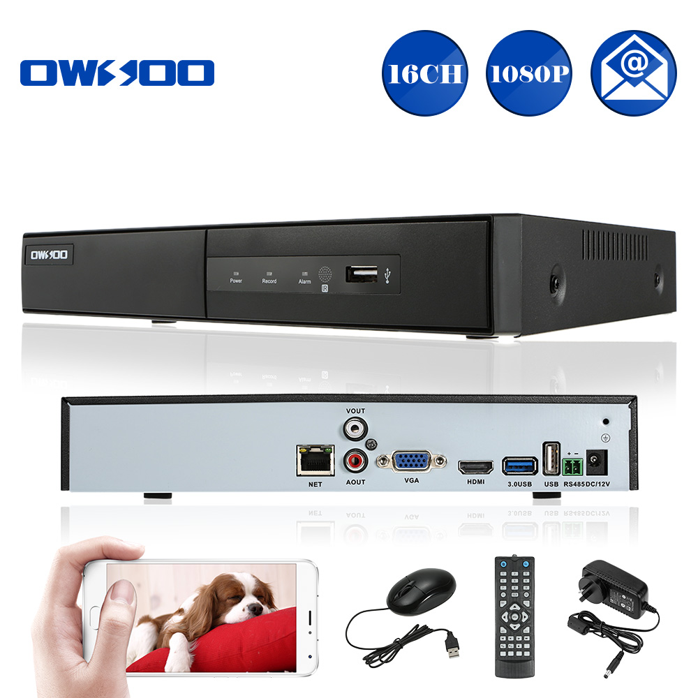 CCTV NVR 16CH 1080P ONVIF 1-CH HD/VGA/RCA Output 16 Channel H.264 P2P Network NVR Recorder For IP Camera Support Phone View(China (Mainland))