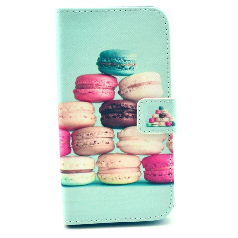 for LG G3 S D722 Cute Case Folio Wallet Leather Cover for LG G3 S Beat D722 D725 - Colorful Macarons(China (Mainland))