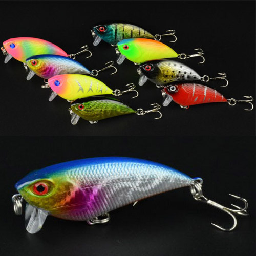 Wholesale 6pcs/lot Hot Selling Artificial Freshwater New Top VIB fishing lures 8 colors Fishing bait fishing tackle 5.5cm 6.6g(China (Mainland))