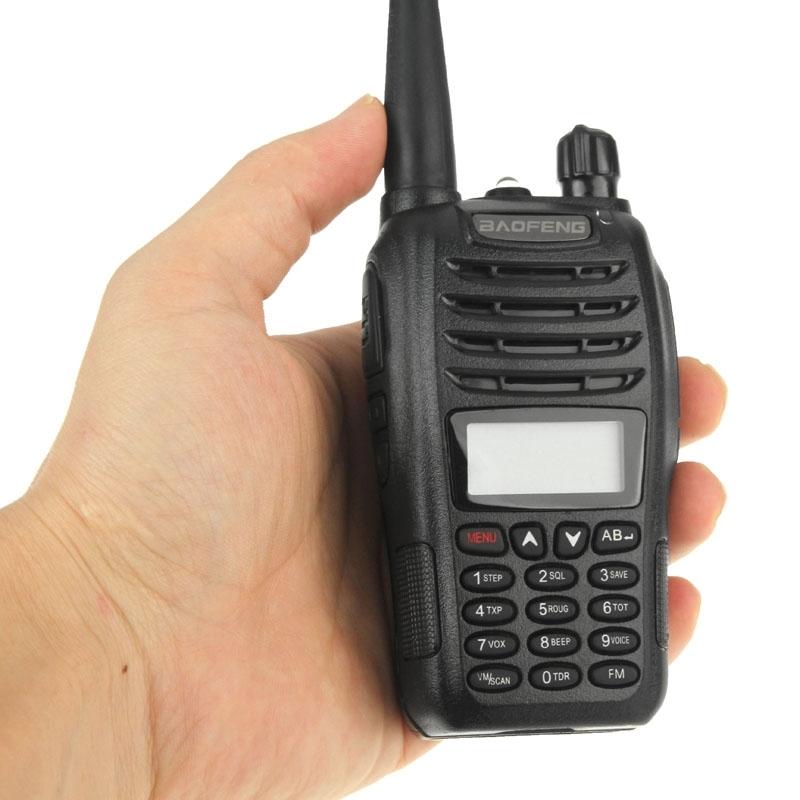 New Black BaoFeng UV-B6 Walkie Talkie 136-174MHz&400-470 MHz cheap VHF / UHF 5W 99CH Two Way Radio FM Transceiver(China (Mainland))