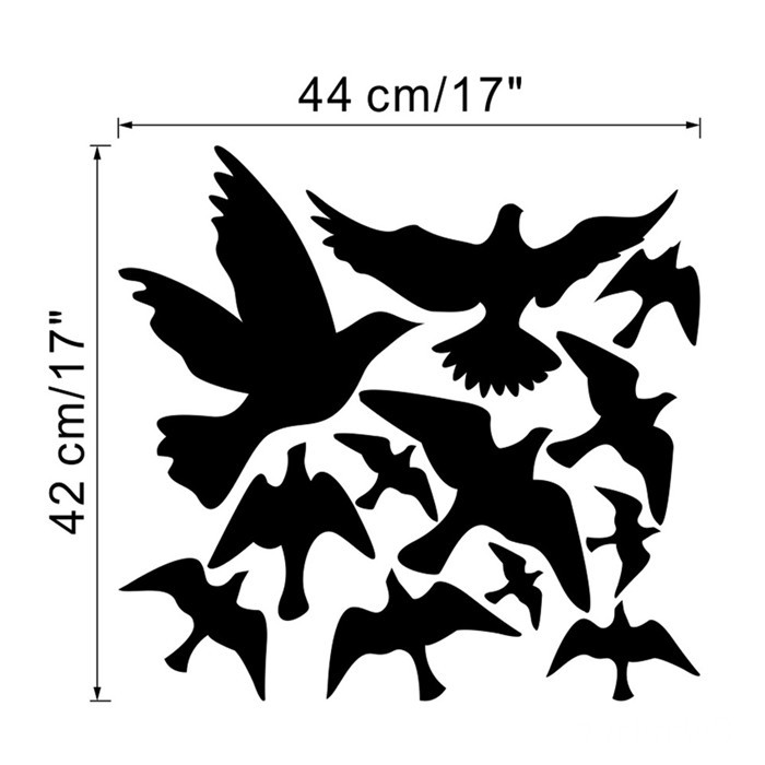 Creative Cartoon Flying Birds Picture DIY Wall Poster Background Waterproof Creative Wall Sticker Decoration Cute(China (Mainland))