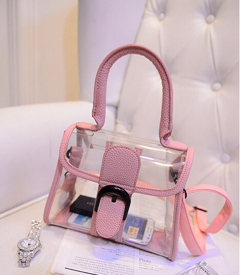 Women bags the new small transparent plastic bag sweet lady shoulder diagonal package female bag jelly bag Free shipping(China (Mainland))
