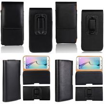 Holster Case For Samsung Galaxy S7 Note 7 S6 Edge S5 S4 S3 S2 Waist Bag Belt Clip Leather Pouch For Asus Zenfone 2 Laser LeEco(China (Mainland))